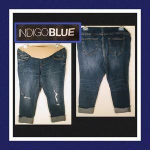 🤰🏻Indigo Blue Secret Fit Belly Jeans